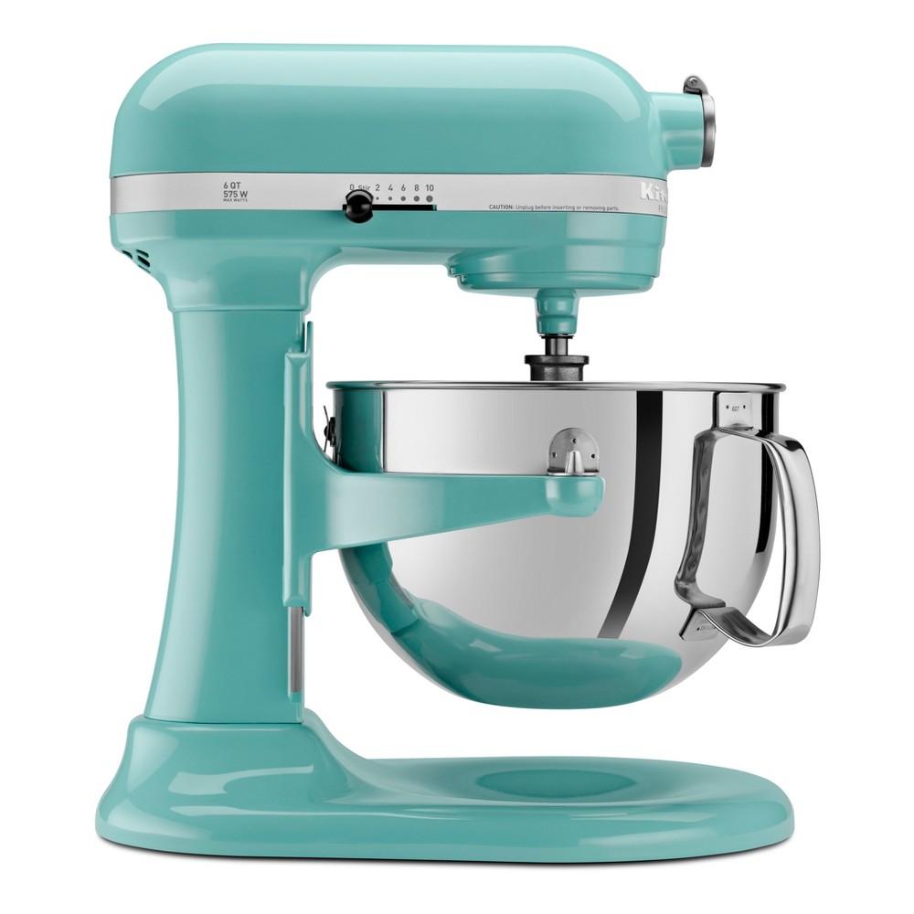 KitchenAid Refurbished Professional 600 Series 6qt Bowl-Lift Stand Mixer Aqua (Blue) - RKP26M1XAQ