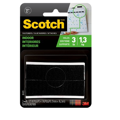 Scotch® Indoor Fasteners, Black, 3/4 in x 3 in - image 1 of 10