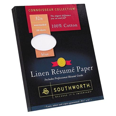 Southworth Cotton Linen Resume Paper Blue Target - Southworth-resume-paper