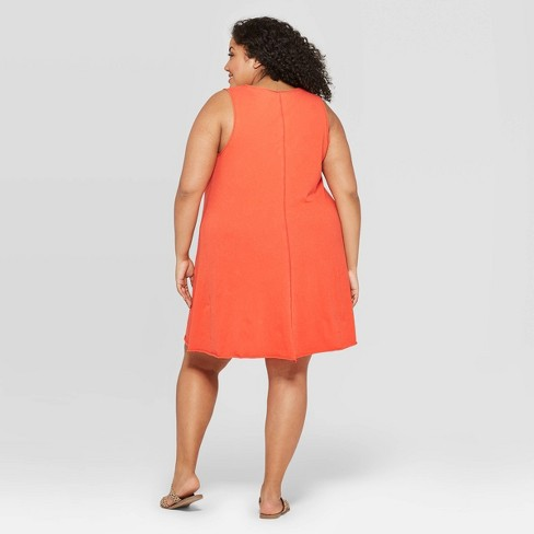 Women\'s Plus Size Sleeveless U-Neck Tank Dress - Universal Thread ...