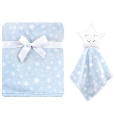Hudson Baby Infant Boy Plush Blanket with Security Blanket, Star Boy, One Size