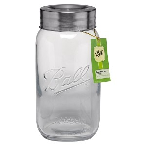 Ball 128oz Commemorative Glass Mason Jar with Lid - Super Wide Mouth, Clear