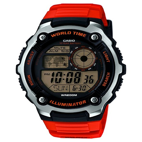 Casio Men's Performance Stainless Steel Wristwatch - Orange - image 1 of 1