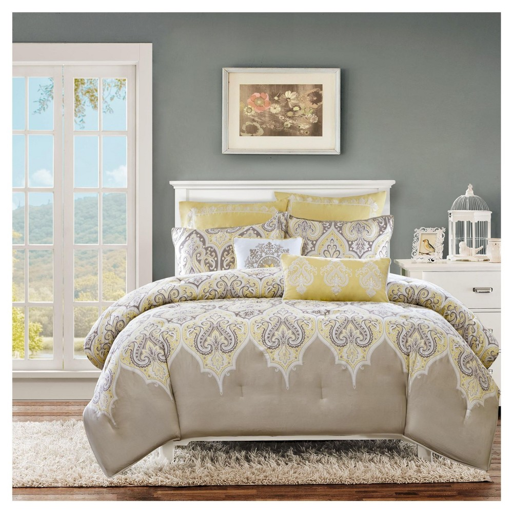 Cheap Naomi 7 Piece Comforter Set- Yellow (King Cal King )