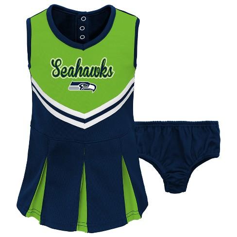 Seattle Seahawks Infant Toddler In The Spirit Cheer Set 4t Target