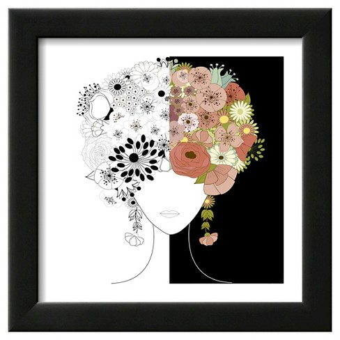 Art.com - Woman Floral Silhouette by Rouz - image 1 of 3