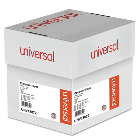 Universal® Multicolor Computer Paper, 2-Part Carbonless, 15lb, 9-1/2 x 11, 1800 Sheets (15872) - image 1 of 2