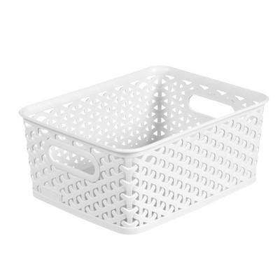 Y Weave Small Storage Bin - White - Room Essentials™