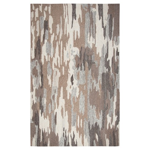 Brown Geometric Rug (5'x8') - Rizzy Home® - image 1 of 1