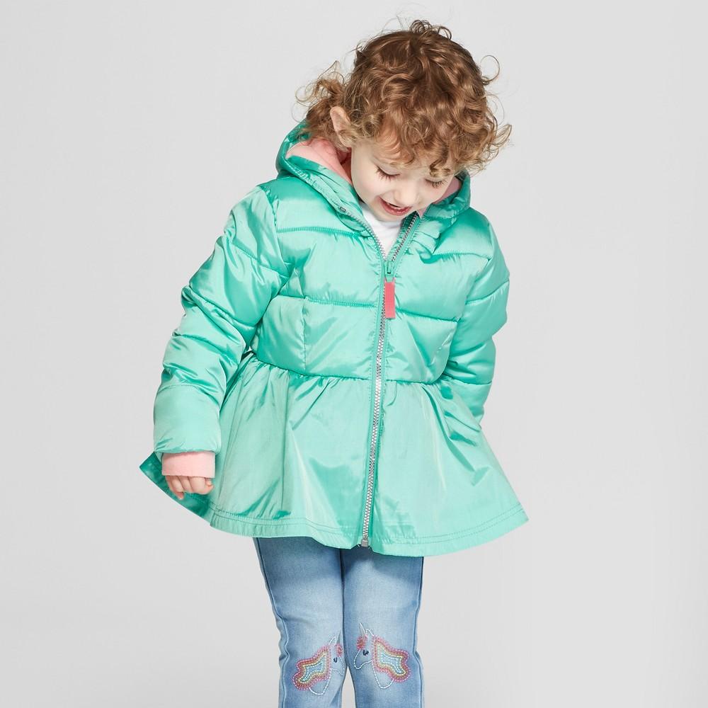 Toddler Girls' Puffer Jacket - Cat & Jack Green 2T