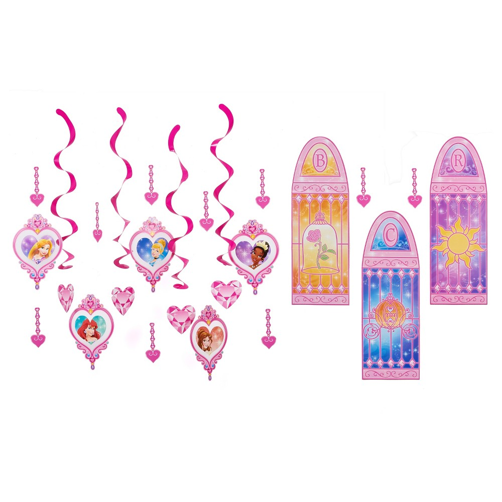Image of 19 ct Disney Princess Party Decoration Kit