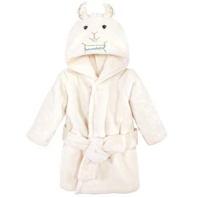 Little Treasure Baby Unisex Plush Bathrobe, Neutral Llama, 0-9 Months