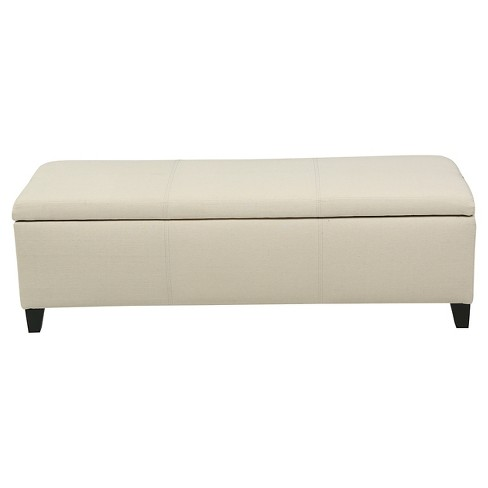 Lucinda Fabric Storage Ottoman Bench Christopher Knight Home
