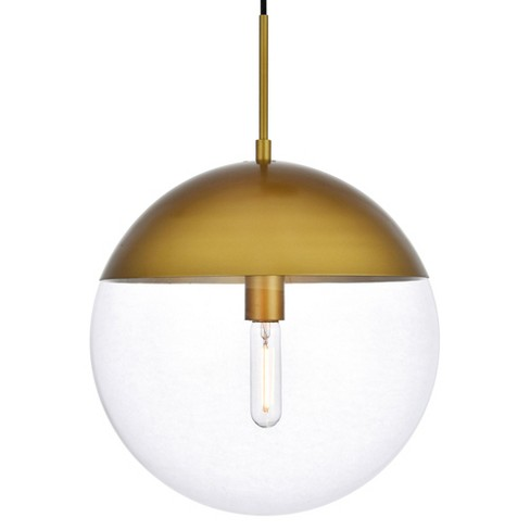 """Elegant Lighting LD6049 Eclipse Single Light 14"""" Wide Pendant with Clear Glass - image 1 of 3"""