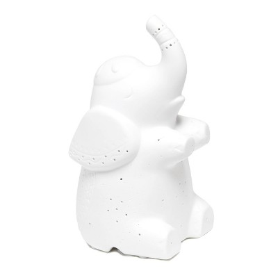 Porcelain Elephant Shaped Table Lamp White - Simple Designs