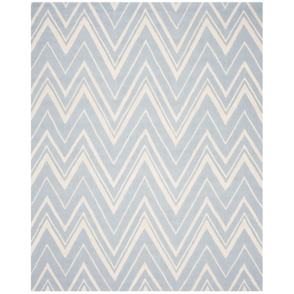 Burton Textured Rug - Blue / Ivory (9' X 12') - Safavieh, Blue/Ivory