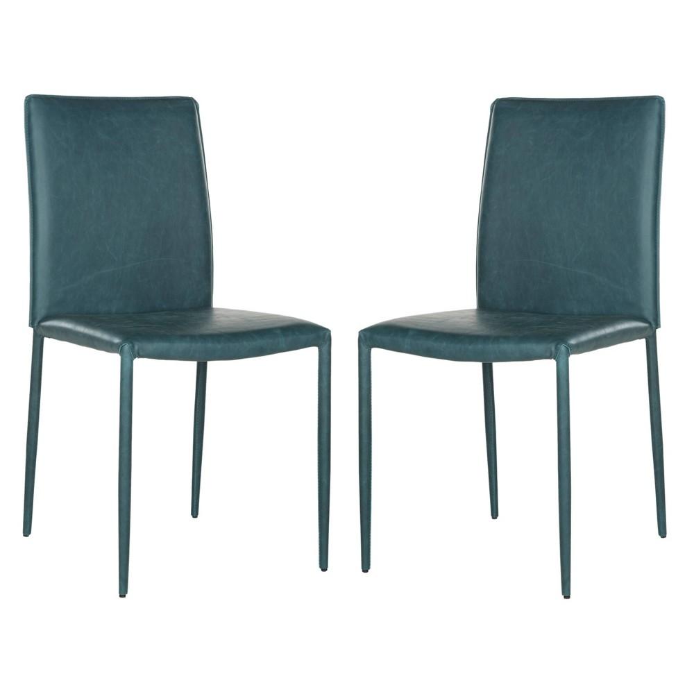 Karna Dining Chair - Antique Teal (Blue) (Set of 2) - Safavieh