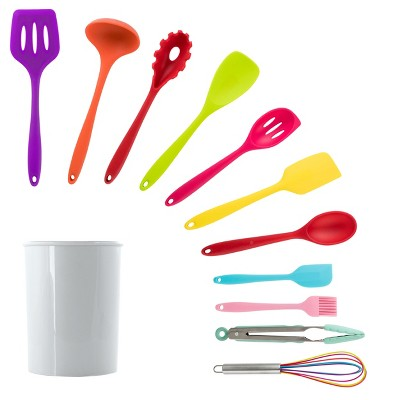 MegaChef 12 Piece Red Silicone Cooking Utensils