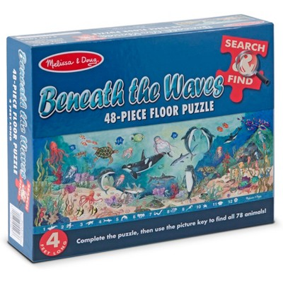 Melissa And Doug Search And Find Beneath The Waves Floor Puzzle 48pc
