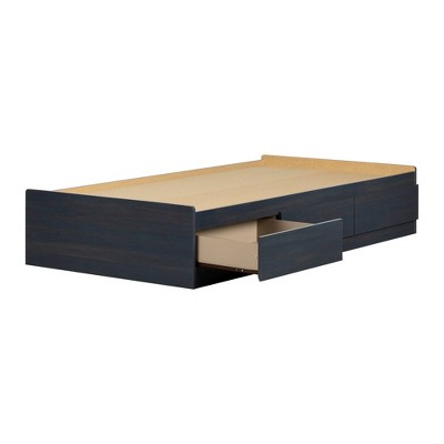 Twin Navali Mates Bed with 3 Drawers  Blueberry  - South Shore