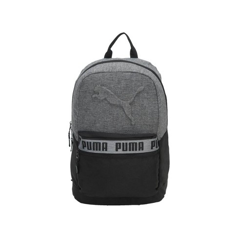"""Puma 18.5"""" Mixed-Tape Backpack - Black/Gray - image 1 of 4"""