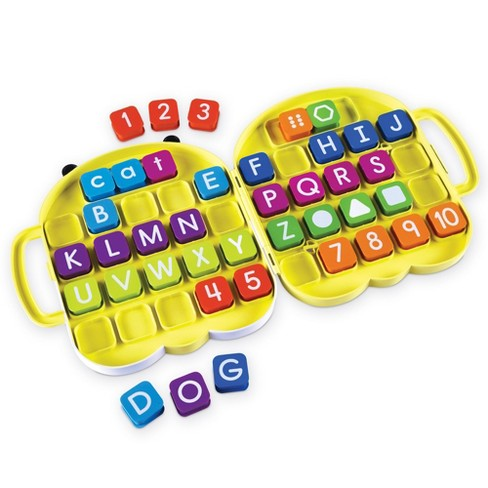 Learning Resources AlphaBee Alphabet, Homeschool, ABCs, Numbers, Shape & Word Recognition Activity Set, Multicolor - image 1 of 4