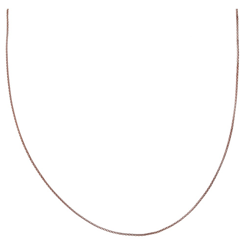 Target Women's Rose Two Tone Popcorn Chain in Sterling Si...
