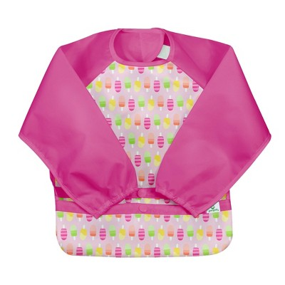 Green Sprout Snap & Go Easy-Wear Long Sleeve Bibs Popsicles 12-24 Months - Pink