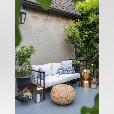 Wicker Patio Pouf   Brown   Threshold™ : Target
