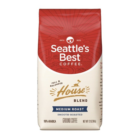 Seattle's Best Coffee House Blend Medium Roast Ground Coffee, 12-Ounce Bag - image 1 of 4