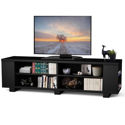 Costway 59'' Wood TV Stand Console Storage Entertainment Media Center w/ Adjustable Shelf