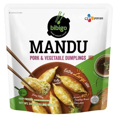 Bibigo Frozen Mandu Pork & Vegetable Dumplings - 24oz