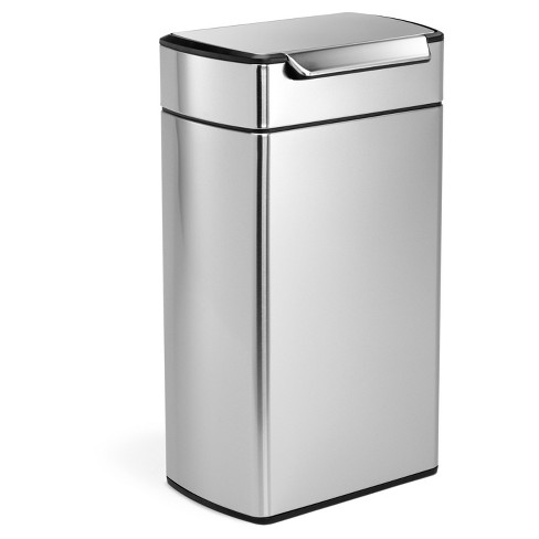 Simplehuman 40 Liter Rectangular Touch-Bar Trash Can, Fingerprint-Proof Brushed Stainless Steel - image 1 of 6