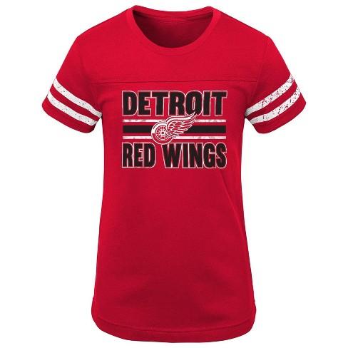 NHL Detroit Red Wings Girls' Netminder Fashion T-Shirt - M - image 1 of 1