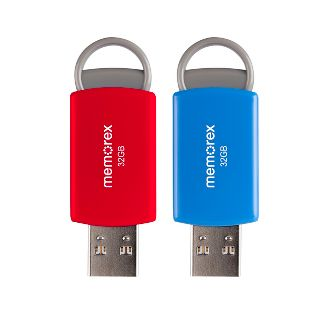 Memorex 32GB 2pk Flash Drive USB 2.0 - (32020003222)