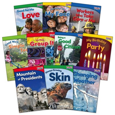 Shell Education Time for Kids Nonfiction Reader Books Grade K Set 3 - Set of 10