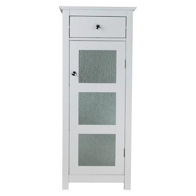 Connor 1 Door Floor Cabinet White - Elegant Home Fashions
