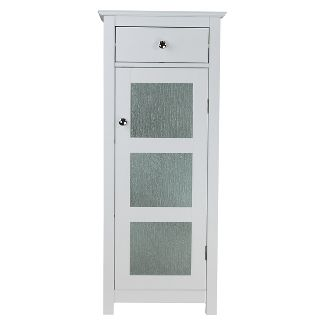 Connor 1 Door Floor Cabinet White - Elegant Home Fashions