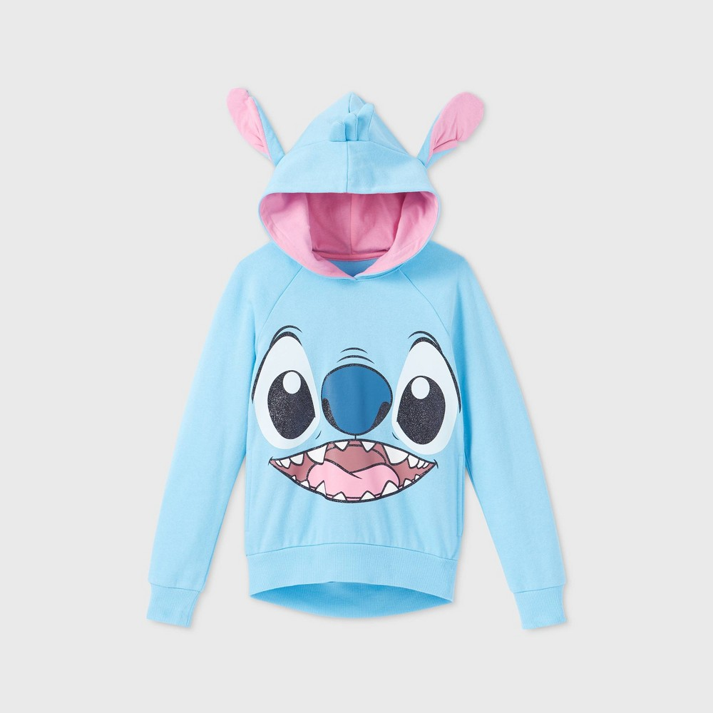 Cheap Girls' Disney Stitch Cosplay Hoodie -