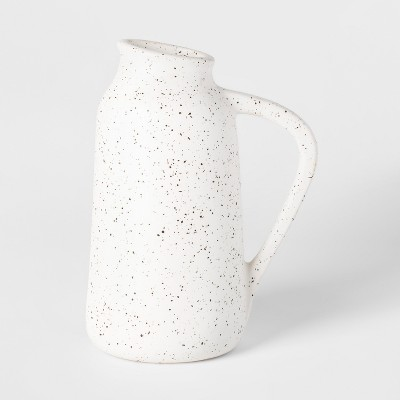 Vase Watering Can Speckled Glaze - White - Threshold™