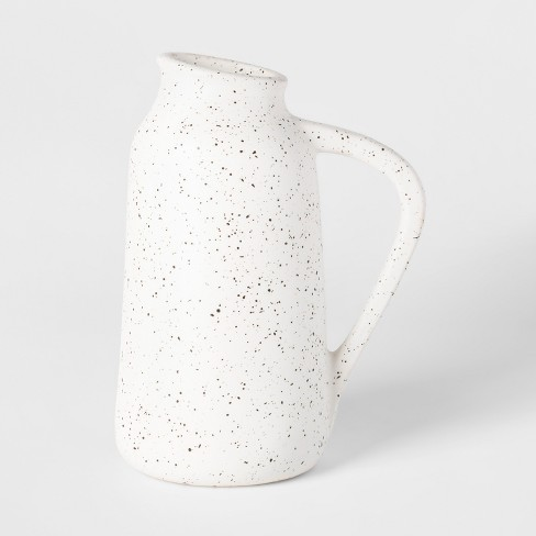 Vase Watering Can Speckled Glaze - White - Threshold™ - image 1 of 8