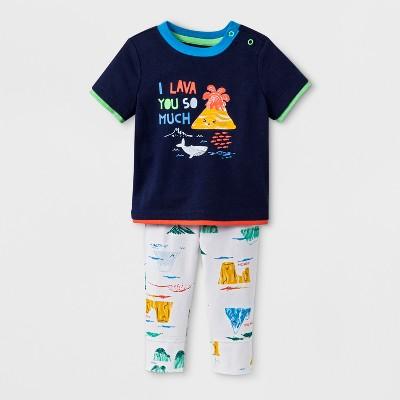 Baby Boys' 2pc Short Sleeve T-Shirt and Jogger Set - Cat & Jack™ Navy 6-9M