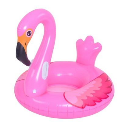 """Pool Central 45"""" Pink Flamingo Inflatable Swimming Pool Float"""