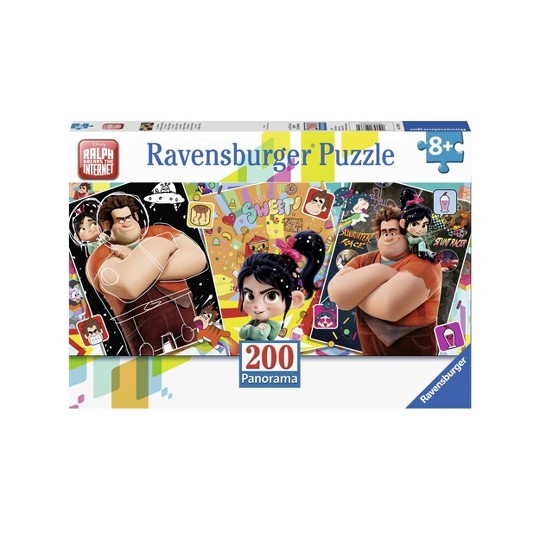 Ravensburger Wreck It Ralph 2 Panorama Puzzle 200pc, Kids Unisex image number null