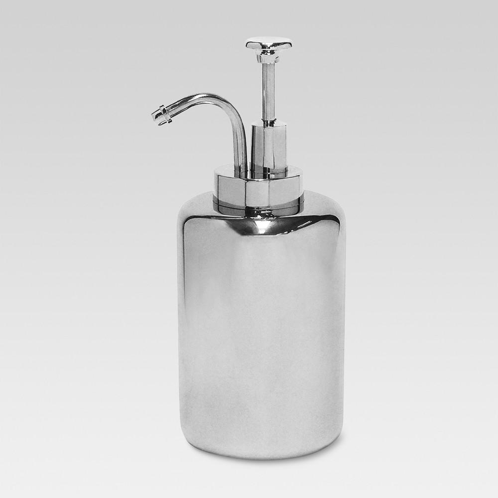 Oilcan Soap Pump Chrome - Threshold, Medium Silver