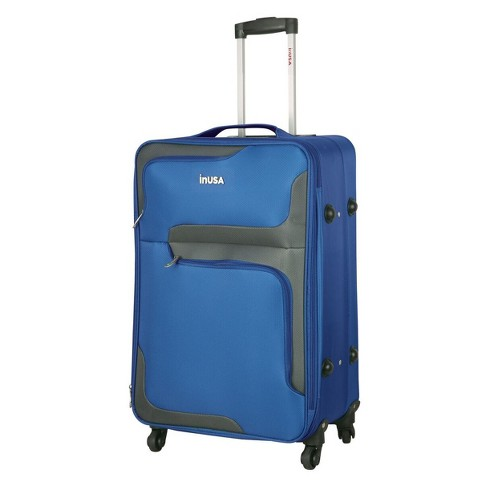 "InUSA 3D-City 28"" Softside Spinner Suitcase - Blue - image 1 of 8"