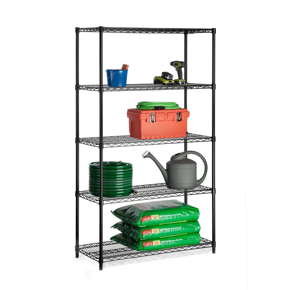 Image of Honey-Can-Do 5 Tier 800lb Storage Rack Silver