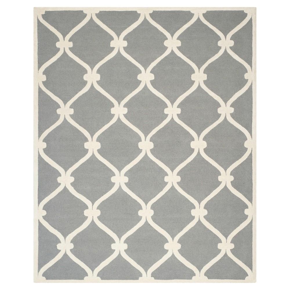 Benson Area Rug - Dark Gray / Ivory ( 8' X 10' ) - Safavieh