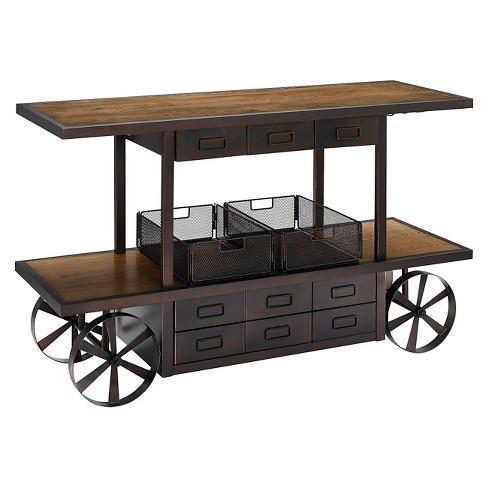 "Porter TV Stand - Brown (64"") - Crosley - image 1 of 11"