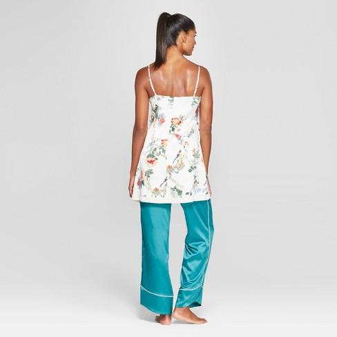 28027cfc143d Women s Floral Print Satin Nightgown - Gilligan   O Malley™ Cream XXL    Target